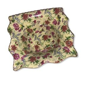 Formalities by Baums Bros. Yellow Floral Tray Dish